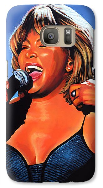 Rhythm And Blues Galaxy S7 Case - Tina Turner Queen Of Rock by Paul Meijering