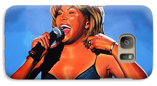 Tina Turner Queen Of Rock Galaxy Case by Paul Meijering