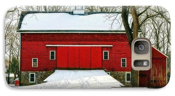 Galaxy Case featuring the photograph Tinicum Barn In Winter II by Debra Fedchin