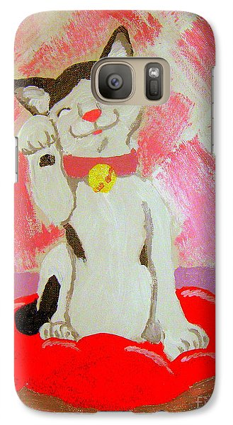 Galaxy Case featuring the painting Tinkadinkadoo by Wendy Coulson