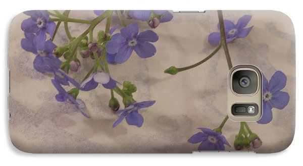 Galaxy Case featuring the photograph Tiny Blue by Sandra Foster