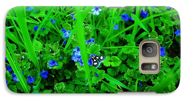 Galaxy Case featuring the photograph Tiny Butterfly by Sherman Perry