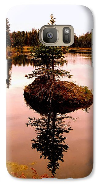 Galaxy Case featuring the photograph Tiny Island by Karen Shackles