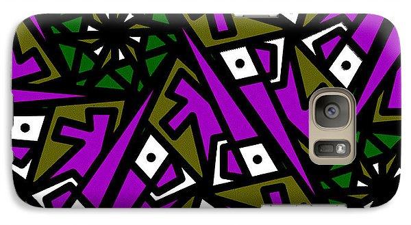 Galaxy Case featuring the digital art Tiny Man / Kinda Fish by Elizabeth McTaggart