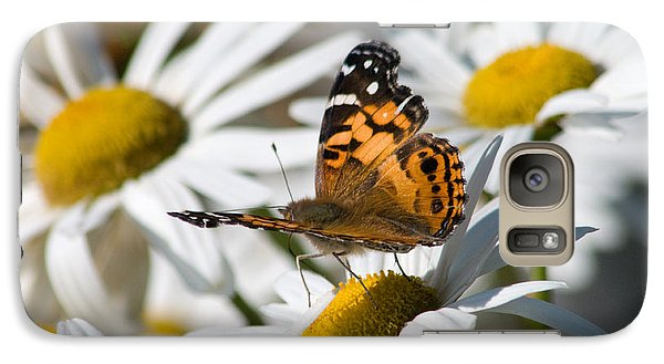 Galaxy Case featuring the photograph Tip-toeing On Daisies by Greg Graham