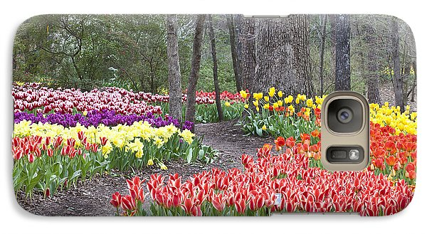 Galaxy Case featuring the photograph Tiptoe Thru The Tulips by Robert Camp