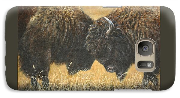 Galaxy Case featuring the painting Titans Of The Plains by Kim Lockman
