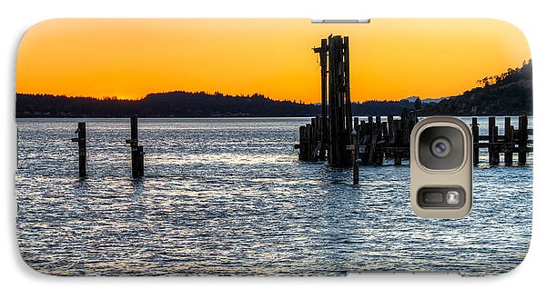 Galaxy Case featuring the photograph Titlow Beach Park Sunset Tacoma Wa by Rob Green