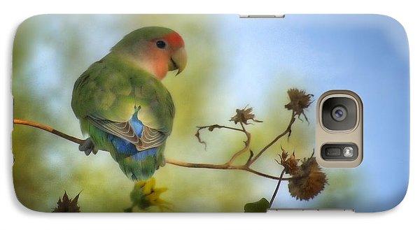 Lovebird Galaxy S7 Case - To Love A Lovebird by Saija  Lehtonen