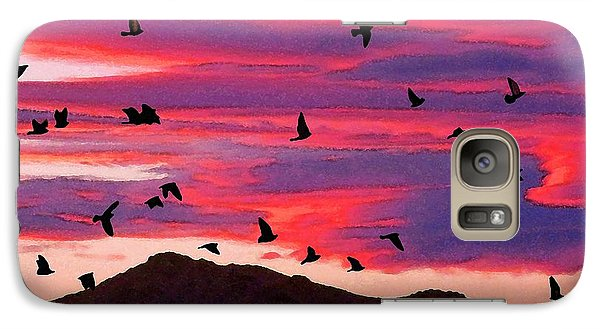 Galaxy Case featuring the photograph To Roost by Timothy Bulone