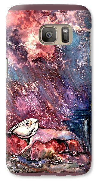 Galaxy Case featuring the painting To The Freedom by Mikhail Savchenko