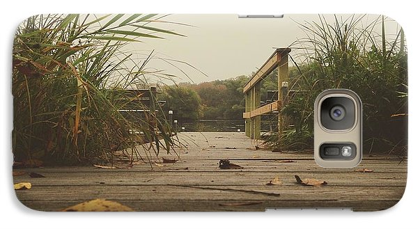 Galaxy Case featuring the photograph To The Pier by Nikki McInnes