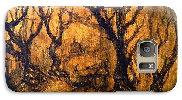 Galaxy Case featuring the painting Toad Hollow by Christophe Ennis