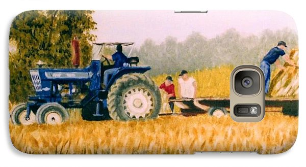 Galaxy Case featuring the painting Tobacco Farmers by Stacy C Bottoms