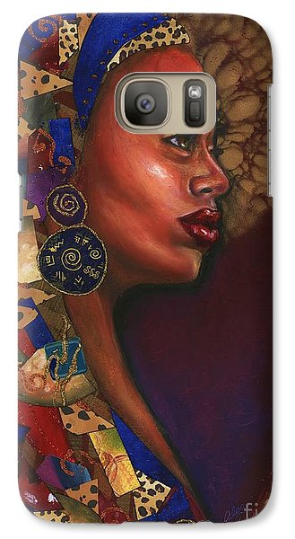 Galaxy Case featuring the mixed media Today I Miss You Even More by Alga Washington