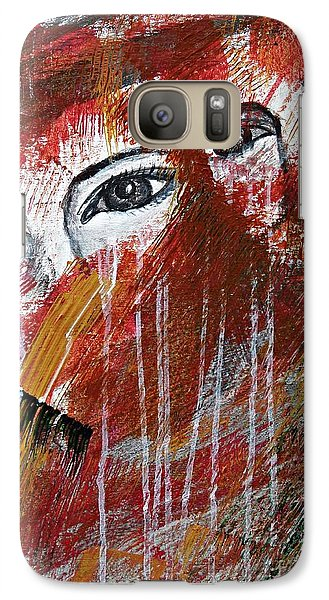 Galaxy Case featuring the painting Together- Abstract Art by Ismeta Gruenwald