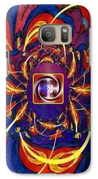 Galaxy Case featuring the digital art Together As One - A Healing In Blue by Ray Tapajna