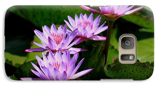 Galaxy Case featuring the photograph Together We Bloom - Violet Lily by Ramabhadran Thirupattur