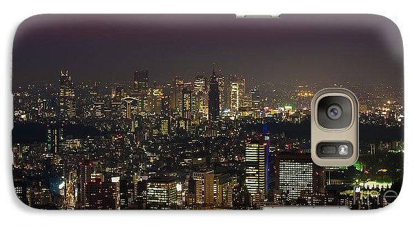 Tokyo City Skyline Galaxy S7 Case by Fototrav Print