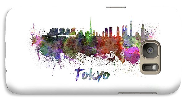 Tokyo Skyline Galaxy S7 Case - Tokyo Skyline In Watercolor by Pablo Romero