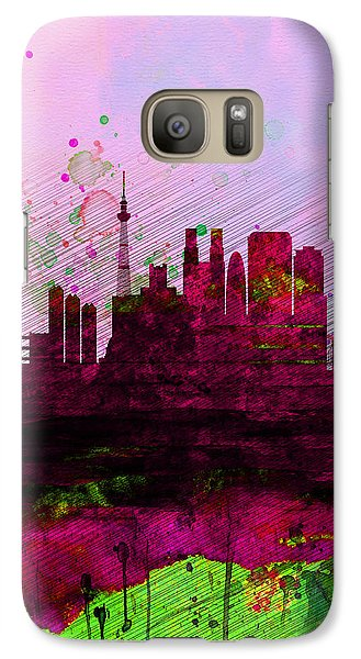 Tokyo Watercolor Skyline Galaxy S7 Case by Naxart Studio