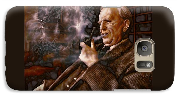 Galaxy Case featuring the painting Tolkien Daydreams by Dave Luebbert