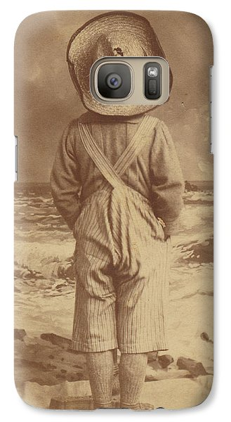 Galaxy Case featuring the photograph Tom Sawyer At The Beach by Paul Ashby Antique Image