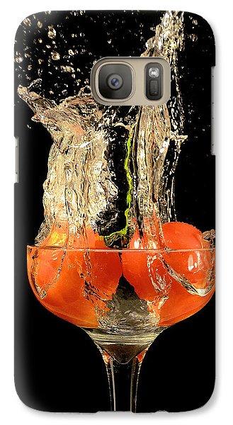 Galaxy Case featuring the photograph Tomato Splash by Thomas Born