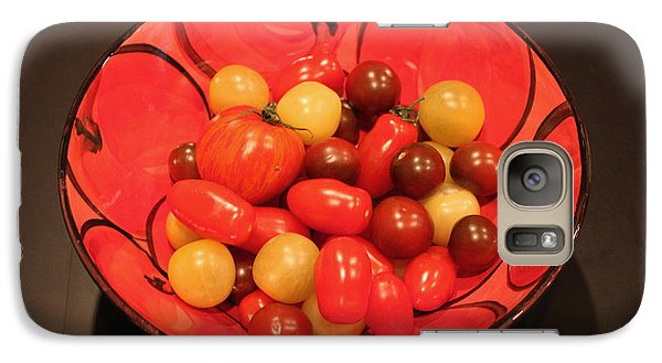 Galaxy Case featuring the photograph Tomatoes In Bowl by Gerry Bates