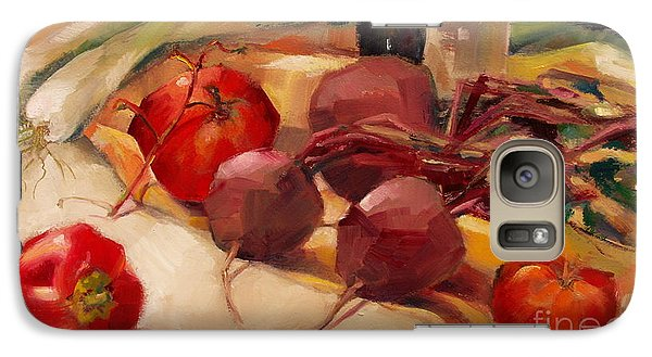 Galaxy Case featuring the painting Tom's Bounty by Michelle Abrams