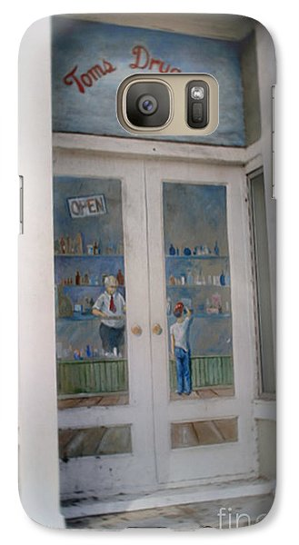Galaxy Case featuring the photograph Tom's Drug Company by Phil Mancuso