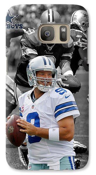 Tony Romo Cowboys Galaxy S7 Case by Joe Hamilton