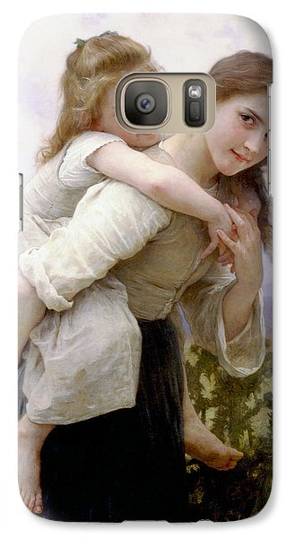 Galaxy Case featuring the digital art Too Much To Carry by Bouguereau