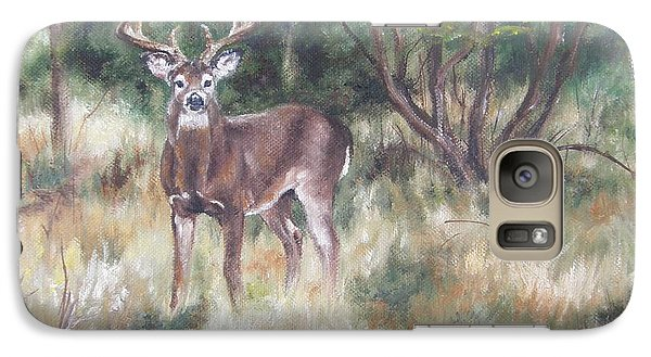 Galaxy Case featuring the painting Too Tempting by Lori Brackett