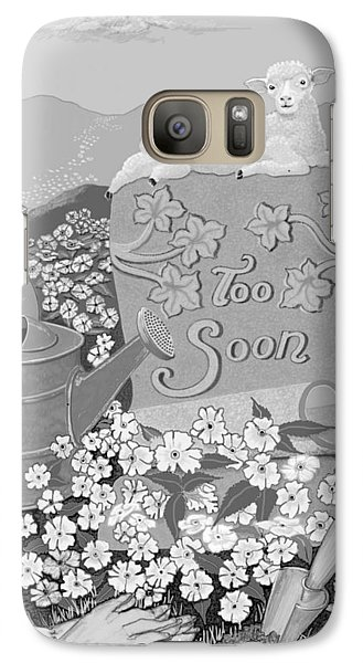 Galaxy Case featuring the digital art Toosoon by Carol Jacobs
