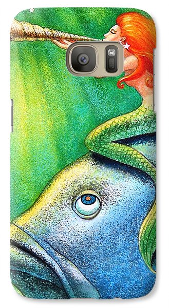 Toot Your Own Seashell Mermaid Galaxy Case by Sue Halstenberg