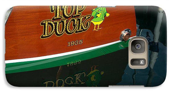 Galaxy Case featuring the photograph Top Duck At Tahoe's Wooden Boat Festival  by Vinnie Oakes