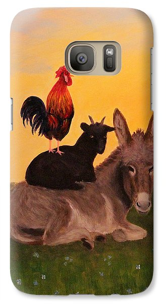 Galaxy Case featuring the painting Top O The Morning by Janet Greer Sammons