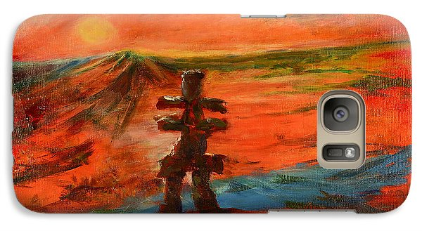 Galaxy Case featuring the painting Top Of The World by Sher Nasser