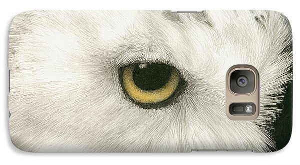 Galaxy Case featuring the painting Topaz In The Snow by Pat Erickson