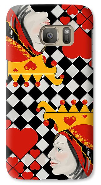 Galaxy Case featuring the painting Topsy-turvy Queen by Carol Jacobs