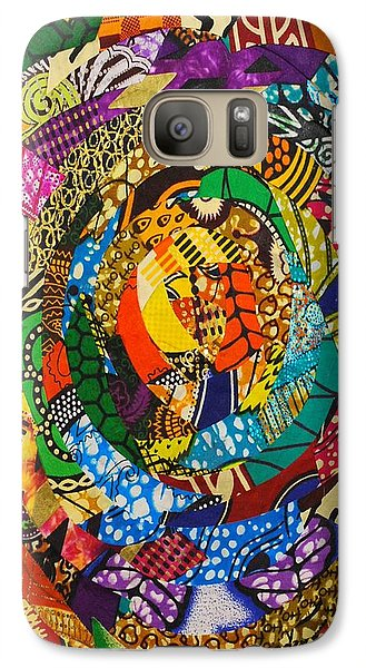 Galaxy Case featuring the tapestry - textile Tor by Apanaki Temitayo M