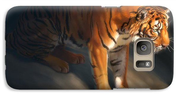 Galaxy Case featuring the digital art Torch Tiger 1 by Aaron Blaise