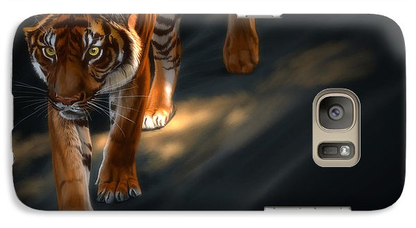 Galaxy Case featuring the digital art Torch Tiger 2 by Aaron Blaise