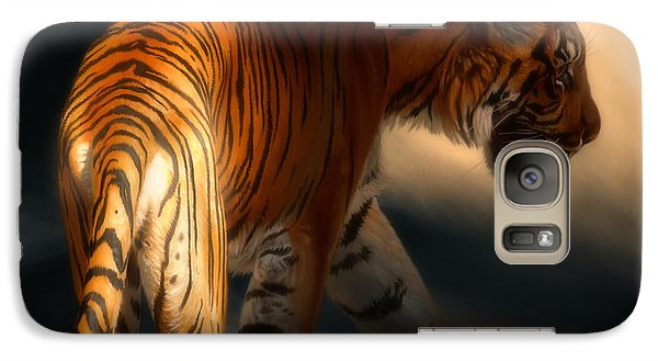 Galaxy Case featuring the digital art Torch Tiger 3 by Aaron Blaise