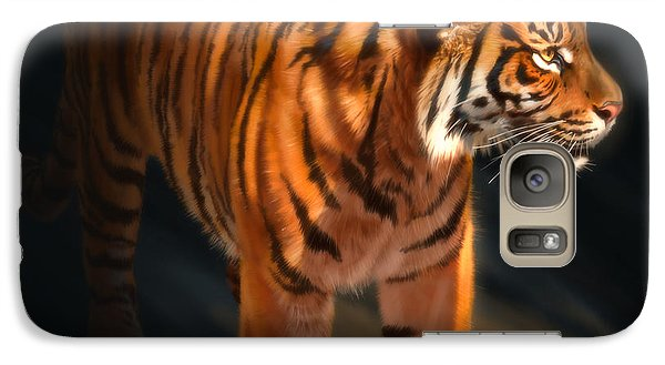 Galaxy Case featuring the digital art Torch Tiger 4 by Aaron Blaise