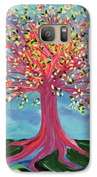 Galaxy Case featuring the painting Tori's Tree By Jrr by First Star Art