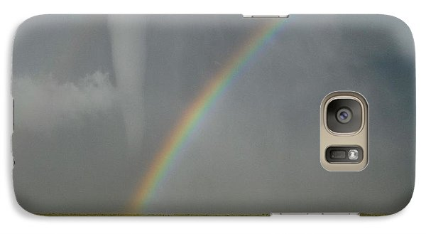 Galaxy Case featuring the photograph Tornado And The Rainbow by Ed Sweeney