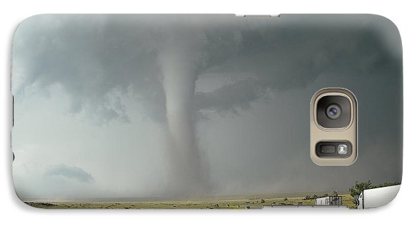 Galaxy Case featuring the photograph Tornado Truck Stop by Ed Sweeney