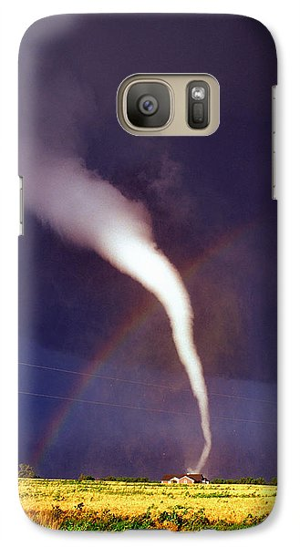 Tornado With Rainbow In Mulvane Kansas Galaxy S7 Case
